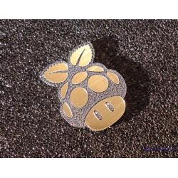 Mushroom Pi Label / Logo / Sticker / Badge 30 x 23 mm [290]