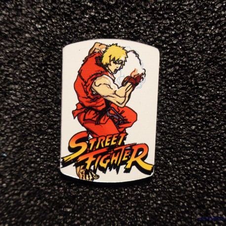 Street Fighter Ken Logo Label Decal Case Sticker Badge [497b]