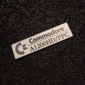 Commodore Amiga 1200HD/PPC Label / Logo / Sticker / Badge brushed aluminum 49 x 13 mm [502e]