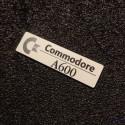 Commodore Amiga 600 Label / Logo / Sticker / Badge brushed aluminum 49 x 13 mm [503]